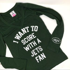 Pink Victoria's Secret Jets fan Top